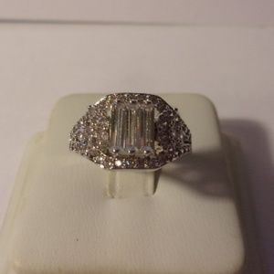 Jewelry - Sterling Silver Deco Style Ring Size 6.5